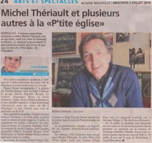 article Acadie Nouvelle - MT juillet 2014