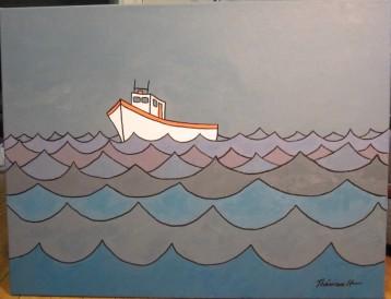 Bateau en mer -Michel Thériault 002