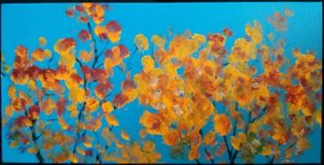 Couleurs d'automne - Michel Thériault - acrylique et huile