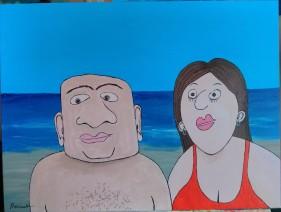 Couple sur la plage - Michel Thériault