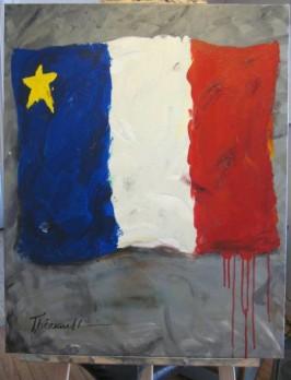 Déportation 2 -Michel Thériault - 30 x 24 po.