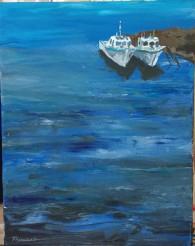 Deux petits bateaux côtiers - MT
