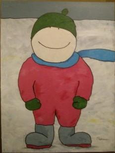 Enfant sur la neige - MT