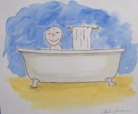 Garçonnet dans la baignoire