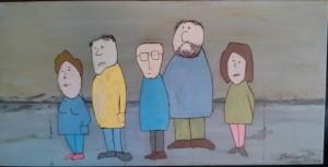 Gens sur le trottoir - Michel Thériault