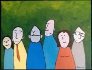 Groupe de gens dehors -Michel Thériault