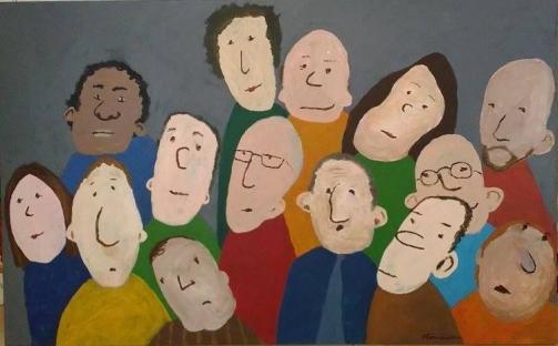 Groupe de gens - Michel Thériault