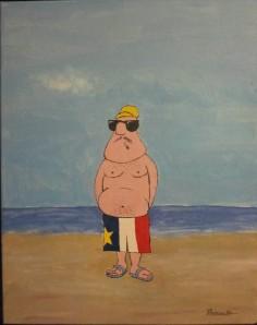 Homme acadien sur la plage - Michel Thériault