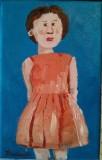 Jeune femme en robe - Michel Thériault