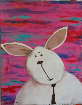 lapin-a-cravate-sur-fond-psychedelique-michel-theriault