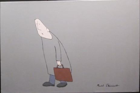 Le passant -Michel Thériault - acrylique sur toile