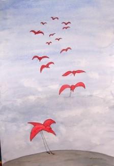 Les oiseaux rouges