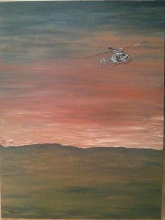 L'hélicoptère -Michel Thériault