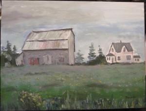 Maison et grange, Péninsule acadienne - Michel Thériault