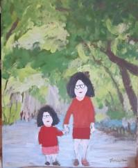 Mère et fille - MT -acry. 2