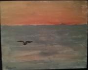Oiseau au-dessus de la mer