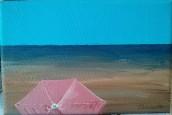Parasol sur la plage - Michel Thériault