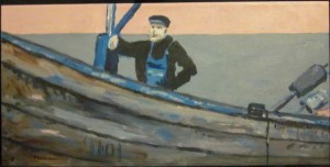 Pêcheur sur son bateau