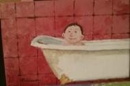 Petit garçon dans la baignoire
