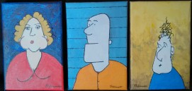 Petites peintures 1, 2 et 3 -Michel Thériault