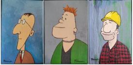 Petites peintures 4, 5 et 6