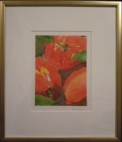 Pommes - Michel Thériault - aquarelle,
