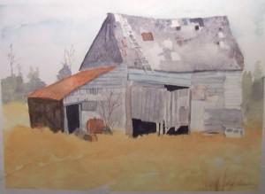 Vieille grange en Acadie
