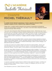 Thériault - Show Hommage 23 fev. Communiqué